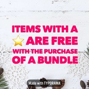 Items with a ⭐️ in the title are free w/a bundle!
